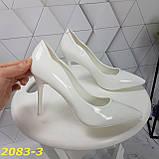 Класичні туфлі білі на невисокому каблуці 36, 38, 39 р. (2083-3), фото 8
