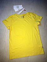 Италия. OVS. Базовая желтая футболка на 6-7 лет