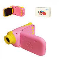 Детская цифровая видео камера C138 с картой памяти (Розовый)
