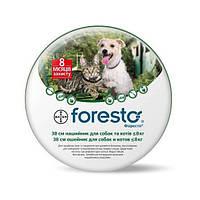 Форесто Нашийник проти бліх для собак і котів 38 см Bayer
