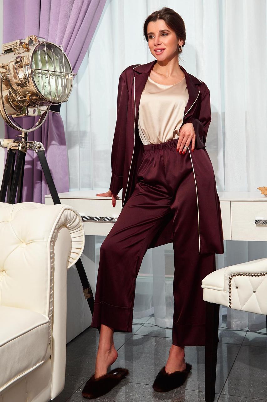 Піжама жіноча, колір: марсала, розмір: S, M, L, XL