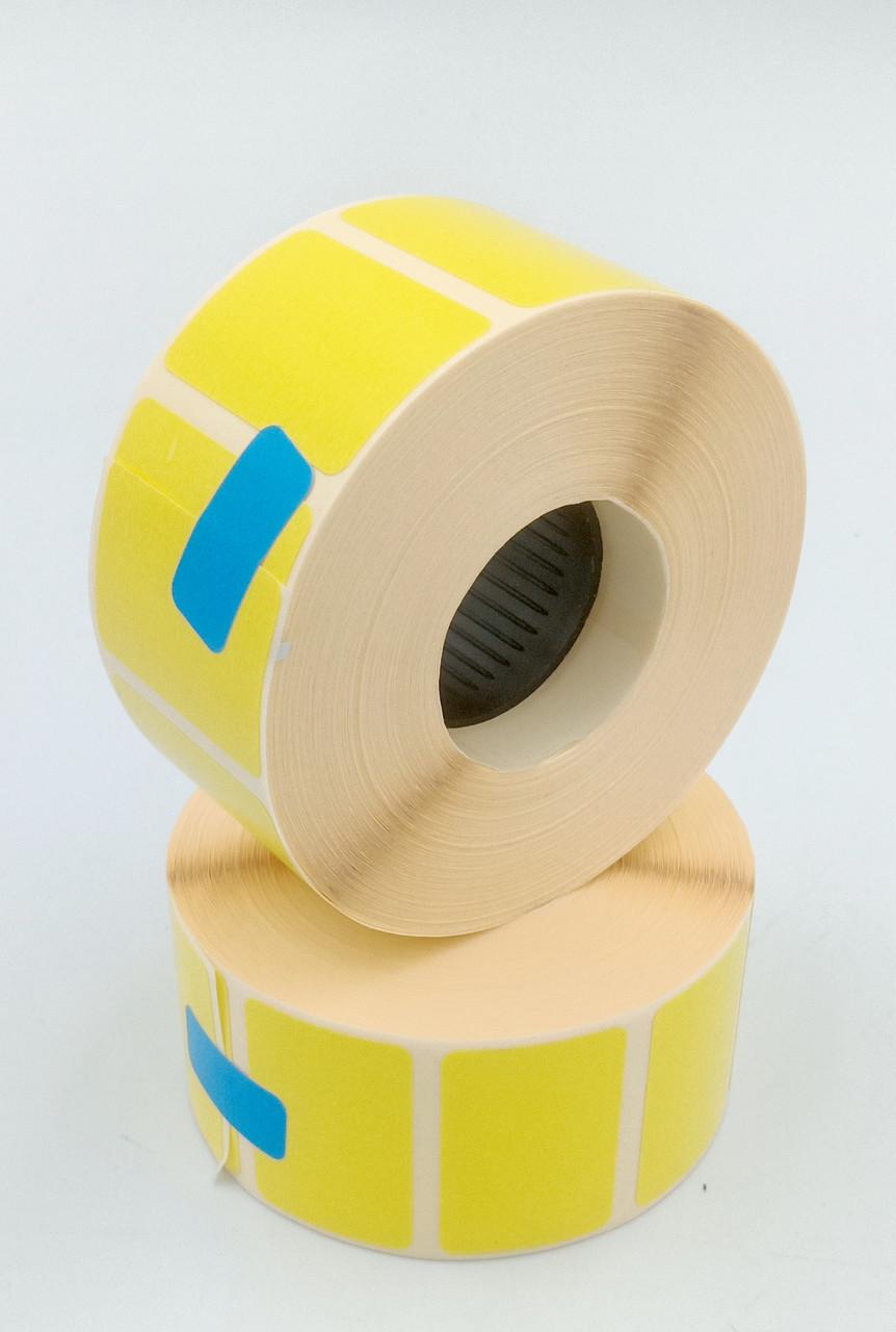 Mobitehnika Термоетикетка для етикеточних принтерів Т.еко пантон жовта 30*20 1000шт вт. 25мм