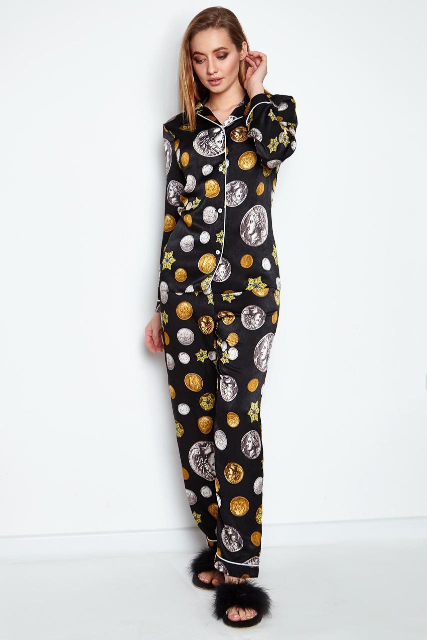 Піжама жіноча, колір: чорний, розмір: XL, S, L, M