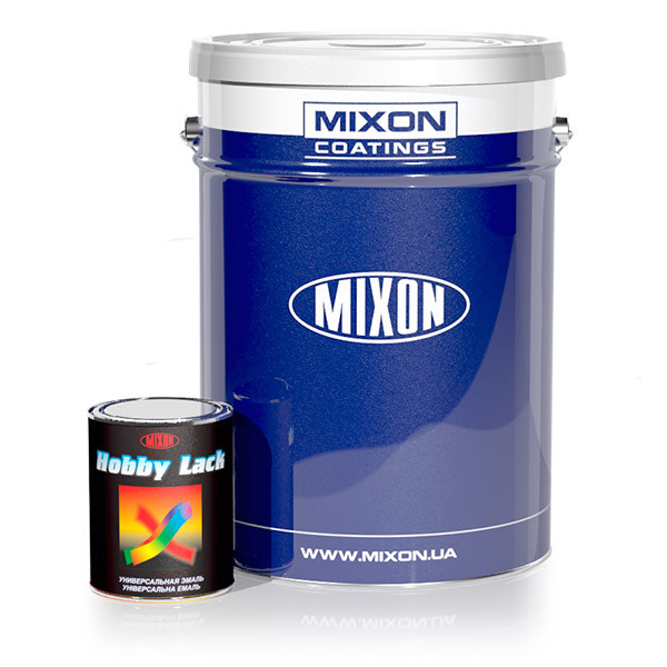 Універсальна алкідна емаль Mixon Hobby Lack. Темно-коричнева глянцева (RAL8017). 2,7 кг