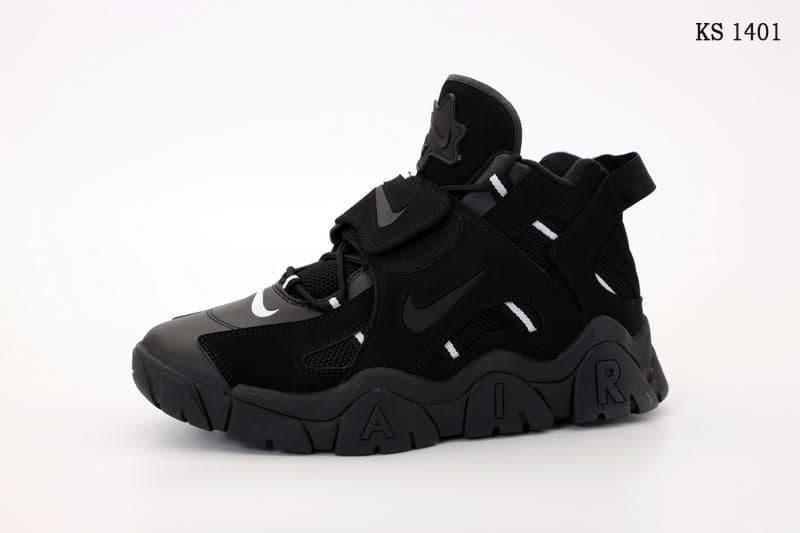 Мужские кроссовки Nike Air Barrage Mid (черные) стильная весенняя обувь из кожи KS 1401