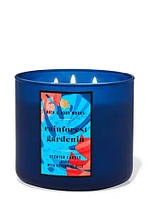 Ароматическая трехфитильная свеча Bath and Body Works Rainforest Gardenia
