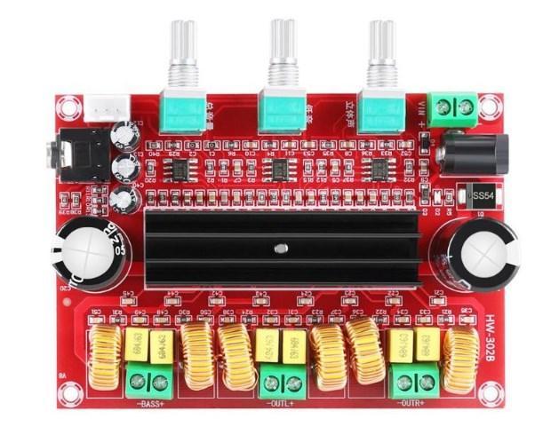 Підсилювач Звуку TPA3116D2, 2.1-Канальний 2 Х 50Вт, 1 Х 100
