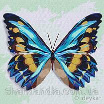 Картина по номерам Идейка Голубой бабочка 25х25 KHO4207