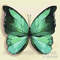 Картина по номерам Идейка  Зеленая бабочка 25х25 KHO4208