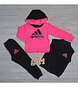 Детский теплый спортивный костюм тройка Неон-2 для девочки на рост 80-106 см, фото 2