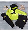 Детский теплый спортивный костюм тройка Неон-2 для девочки на рост 80-106 см, фото 3