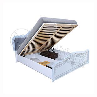 Кровать Луиза Люкс с каркасом с подъемным механизмом Белый глянец ТМ МироМарк