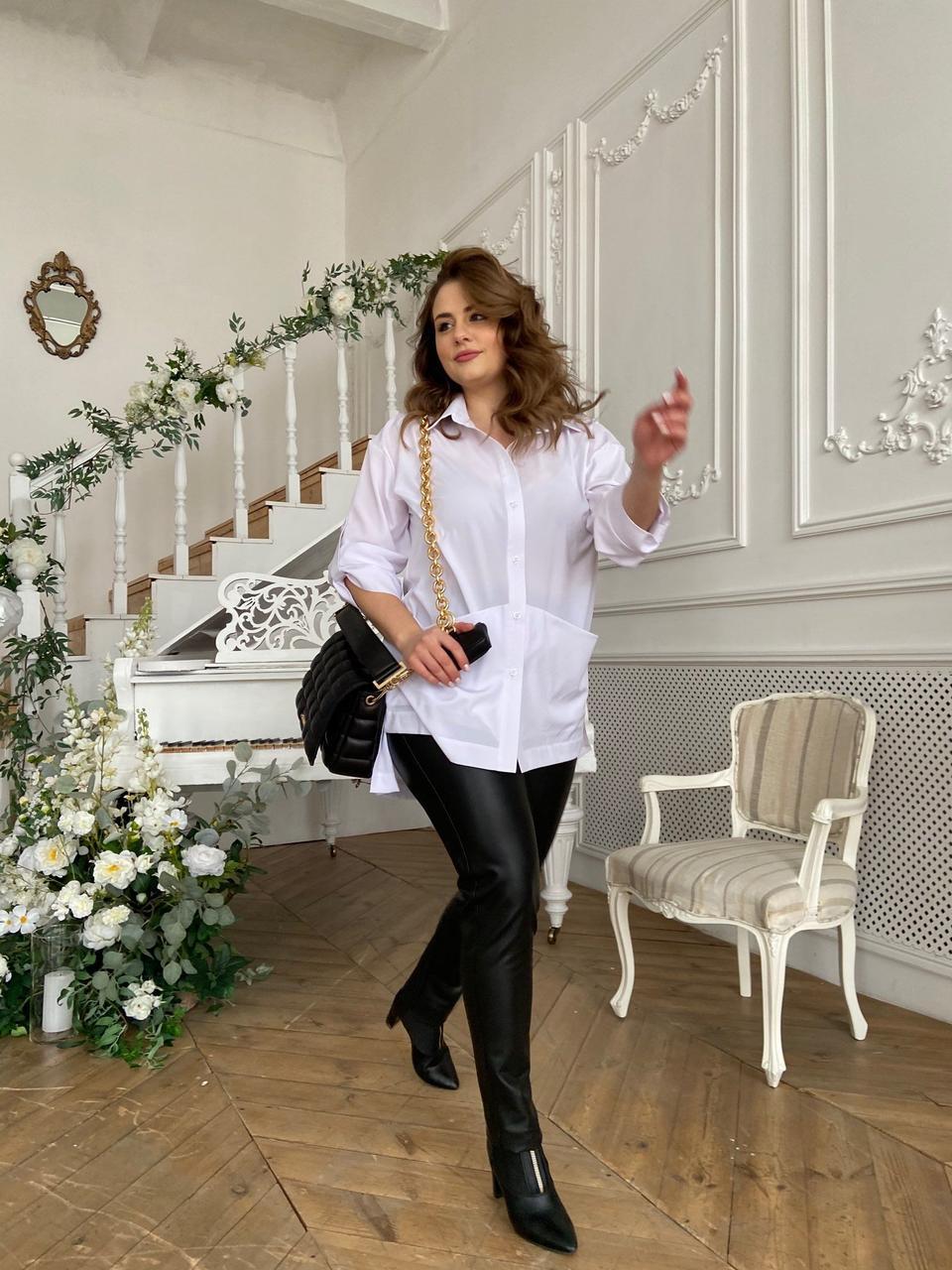 Сорочка жіноча, колір: Білий, розмір: 50-52, 54-56, 58-60, 62-64, 66-68