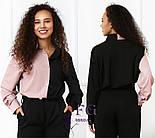 "Женская двухцветная блуза ""Nikita""  Норма, фото 4"