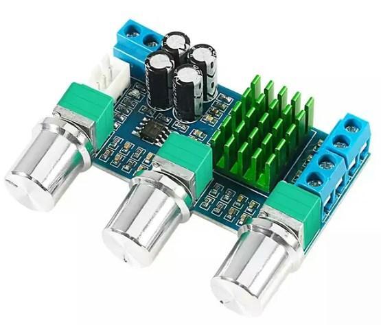 Стерео усилитель мощности с темброблоком 2*80ВТ на TPA3116D2