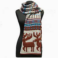 Зимний шарф Олени