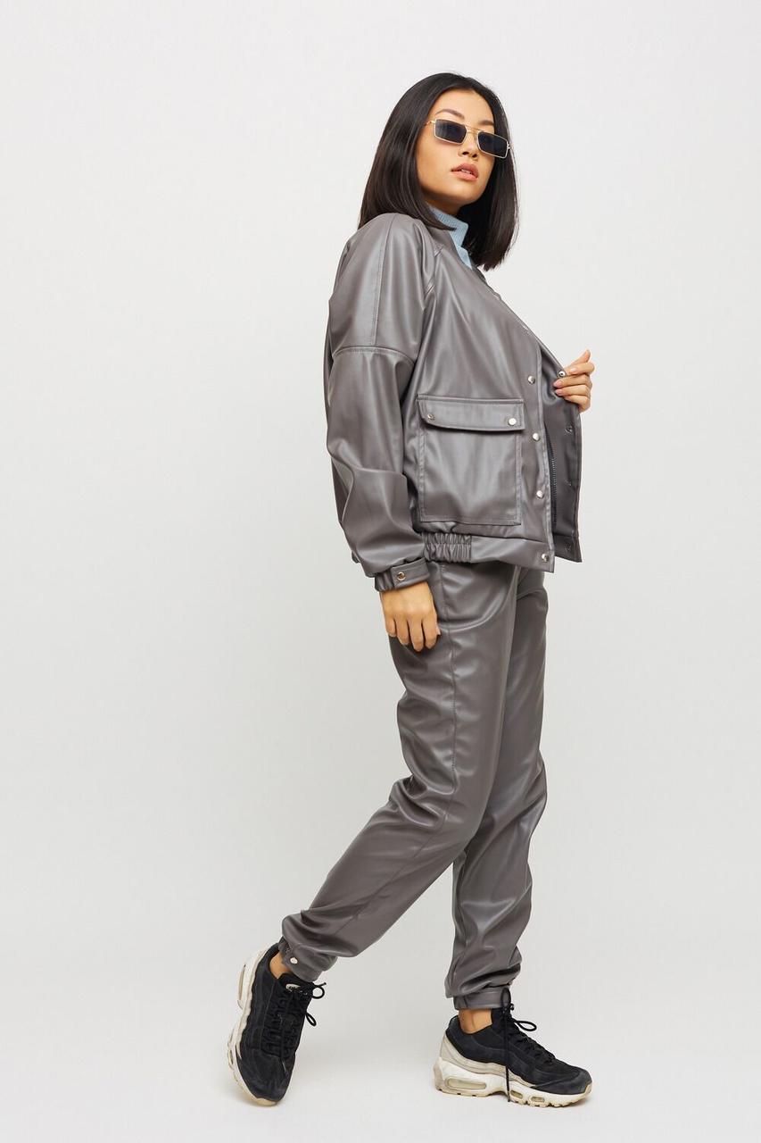 Прогулочный костюм женский спортивный 2021 цвет: серый, размер: XS, S, M, L
