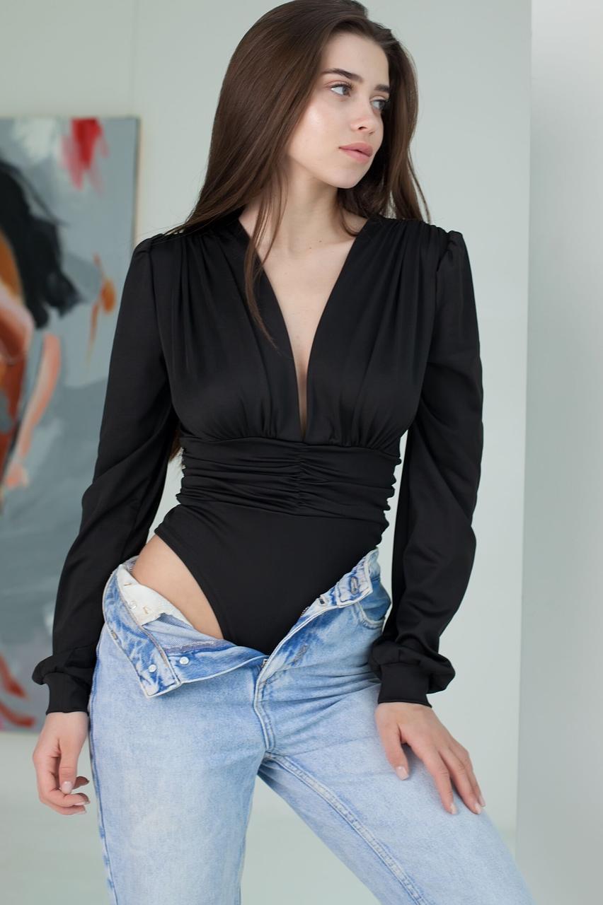 Боди женское, цвет: черный, размер: 42, 44, 46
