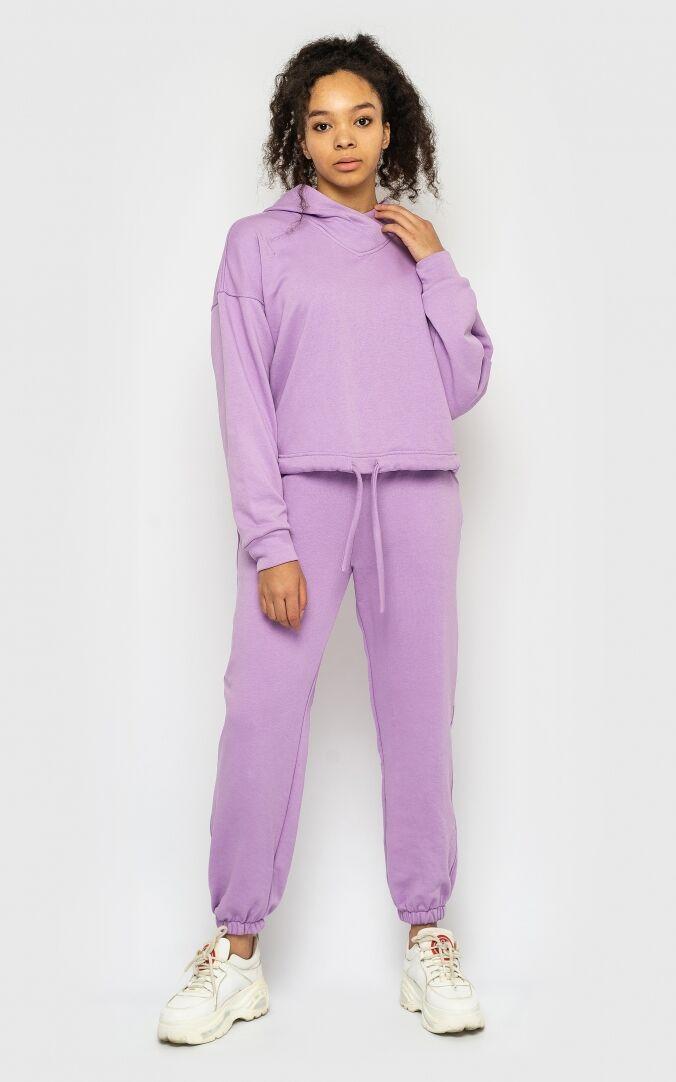Модный спортивный костюм женский 2021  цвет: cиреневый, размер: L, M, S, XL, XXL