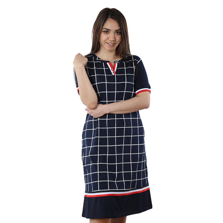 Жіноче домашнє плаття в клітку DI Color №6234, р. 2XL-5XL