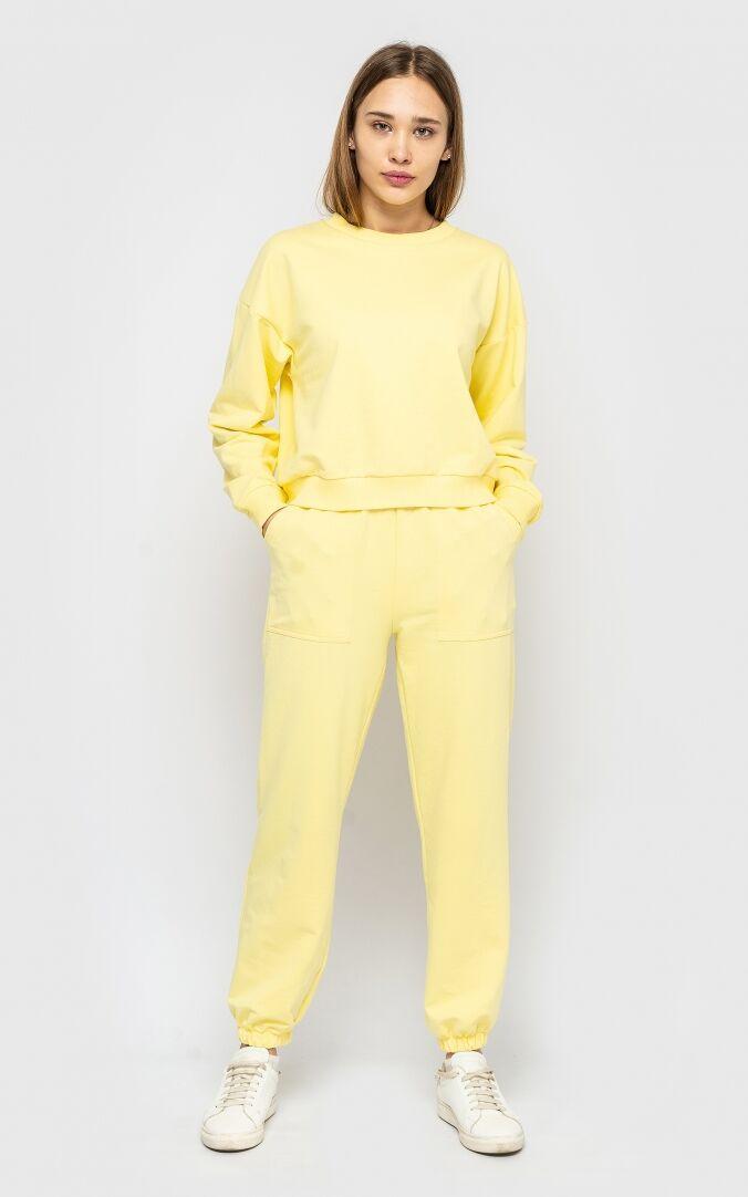 Модный спортивный костюм женский 2021  цвет: жёлтый, размер: XXL, XL, L, M, S
