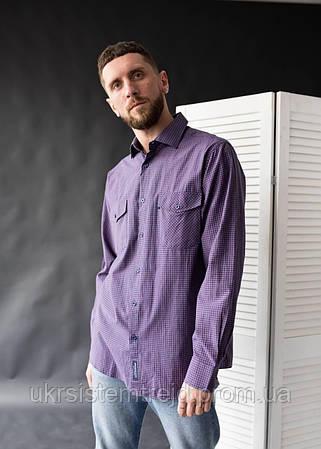 "Мужская рубашка клетка "" Brossara"""