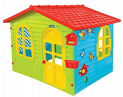 Детский игровой домик Mochtoys большой с доской для рисования