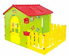 Детский игровой домик Mochtoys New с заборчиком 165х120 см