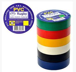 Ізолента Rugby /PVC / асорті 25м (реальний метраж менше)