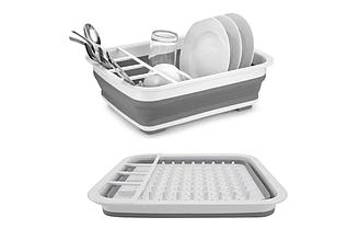 Сушарка-піддон для посуду складна силіконова / 7180
