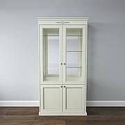 Вітрина 2-дверна з масиву дерева в класичному стилі Грація ROKA, колір на вибір