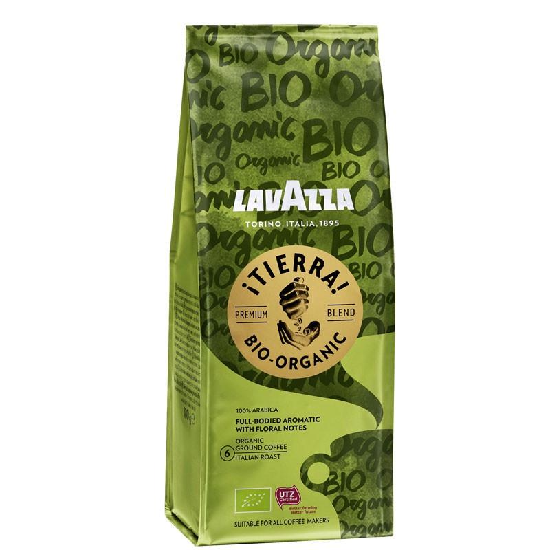 Кава мелена арабіка Lavazza Tierra Bio-Organic, 180г Італія, традиційної італійської обжарювання