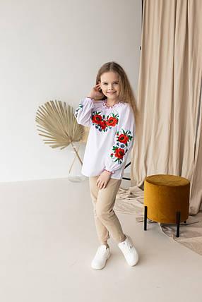 """Детская блуза вышиванка """"Маковое поле"""", фото 2"""
