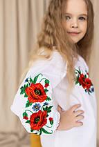"""Детская блуза вышиванка """"Маковое поле"""", фото 3"""
