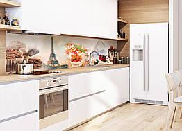 Наклейки кухонный фартук Zatarga Сладости в Париже 650х2500 мм Коричневый Z180098 1, КОД: 1833885