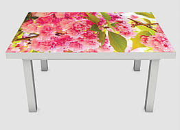 Наклейка на стол Zatarga650х1200 мм Розовое цветение Z180220 1, КОД: 1833955