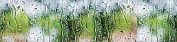 Наклейки кухонный фартук  Zatarga Дождь на стекле  600х2500 мм Зеленый Z180266, КОД: 1927051