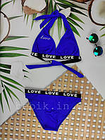 Дитячий роздільний купальник для дівчинки Love р 34-42