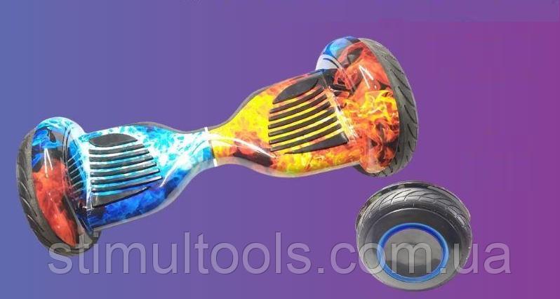 """Гироскутер EL-7 МП 10,5"""" Огонь и лед (Алюминиевые колеса с подсветкой)"""