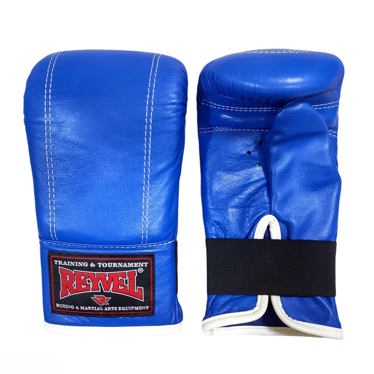 Перчатки снарядные Reyvel кожа, синий
