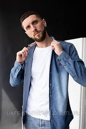 """Джинсовая мужская рубашка """"NORMANI"""""""