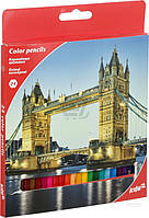 Олівці кольорові 24 шт Міста, KITE