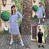 Женское стильное платье-худи с капюшоном