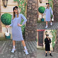 Женское стильное платье-худи с капюшоном, фото 1