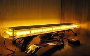 Світлова панель балка проблисковий сигнал LED - жовтий .Проблисковий маячок на дах авто 12-24V