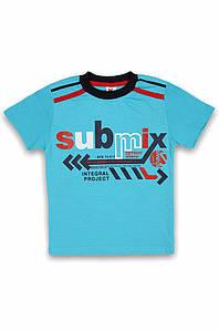 Футболка детская голубая AAA 130122P