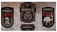 Деревянные постеры (4 разных) IMMORTAL INFUSE WOOD POSTER (171-140)