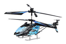 Вертоліт на пульті 3-к і/ч мікро WL Toys S929 з автопілотом (синій)