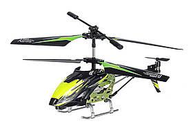 Вертоліт на пульті 3-к р/к мікро WL Toys S929 з автопілотом (зелений)
