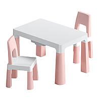 """Детский функциональный столик Poppet """"Моно Пинк"""" и два стульчика"""